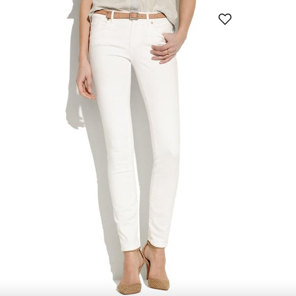 Madewell Skinny Skinny Jeans in Pure White Denim Jeans Size 26